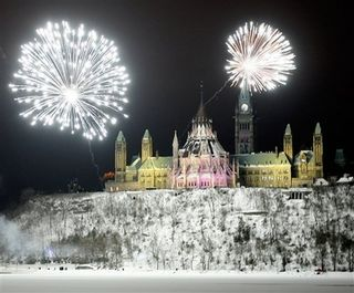 Fireworks on parliament hill 2