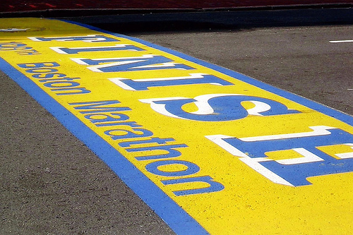 Boston finish line